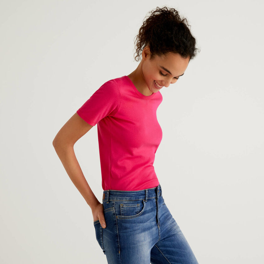T-shirt από βαμβακερό μακριά ίνα