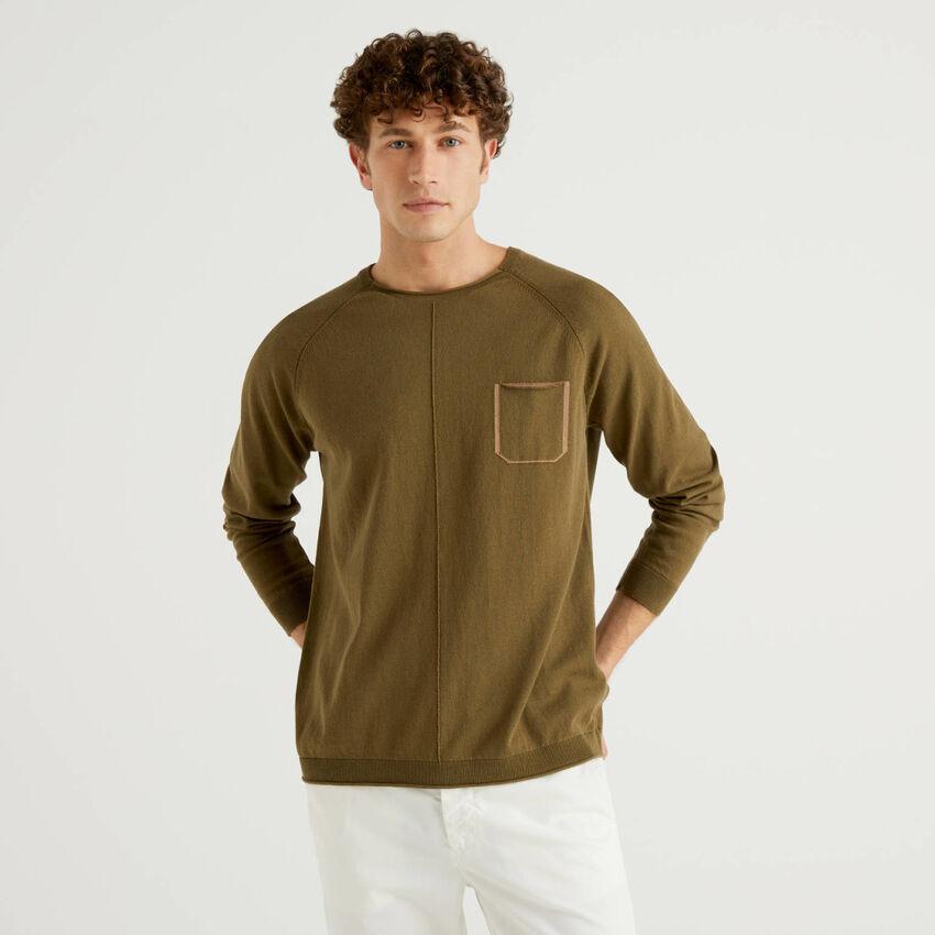 Μπλούζα από βαμβακερό με τσεπάκι