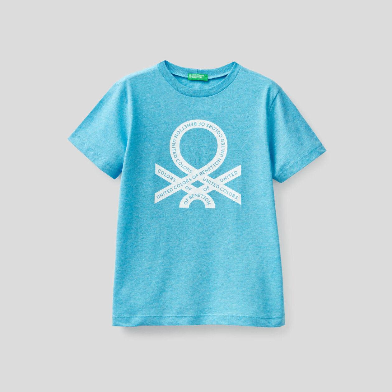 T-shirt fluo με τύπωμα λογότυπο