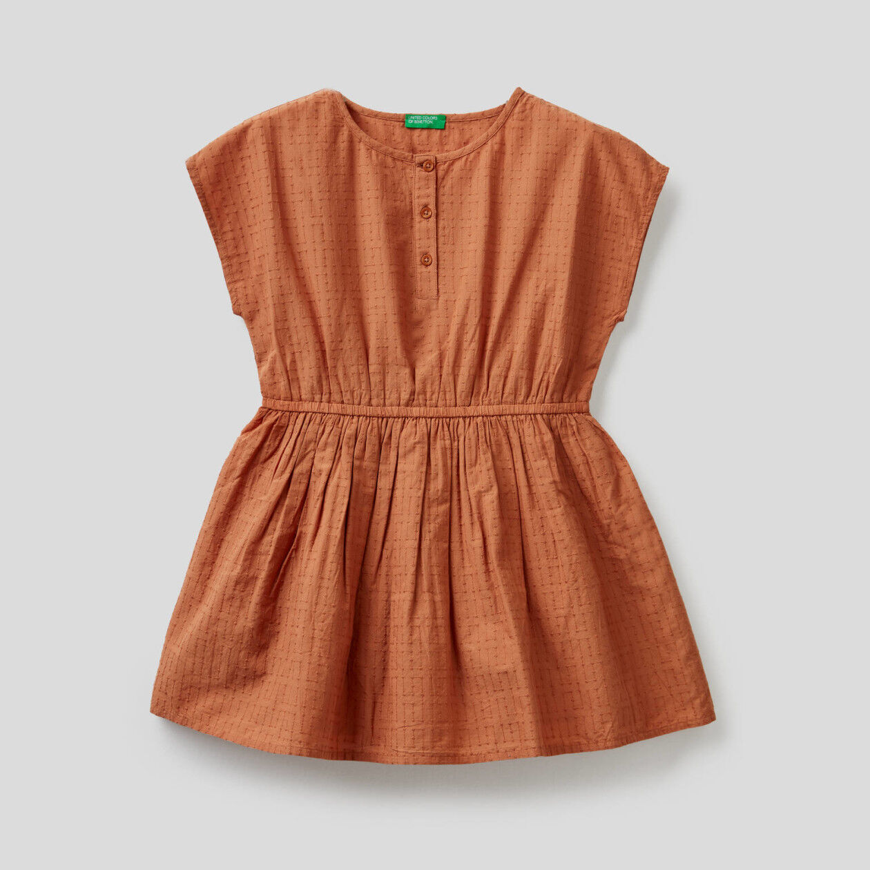 Embroidered dress in pure cotton