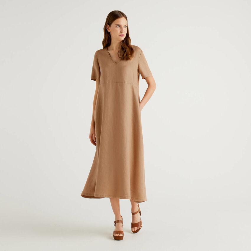 Φόρεμα μακρύ 100% λινό