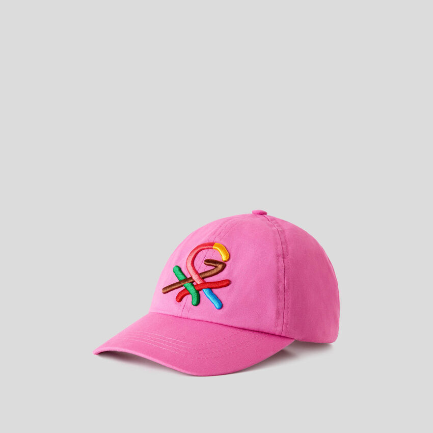 Καπέλο φούξια με κεντητό λογότυπο by Ghali