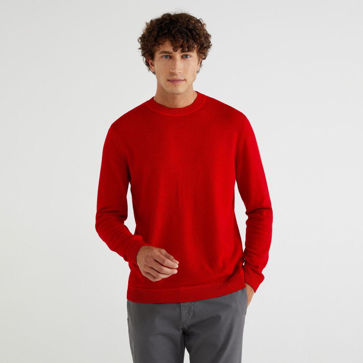 Μπλούζα με λαιμόκοψη από μάλλινο