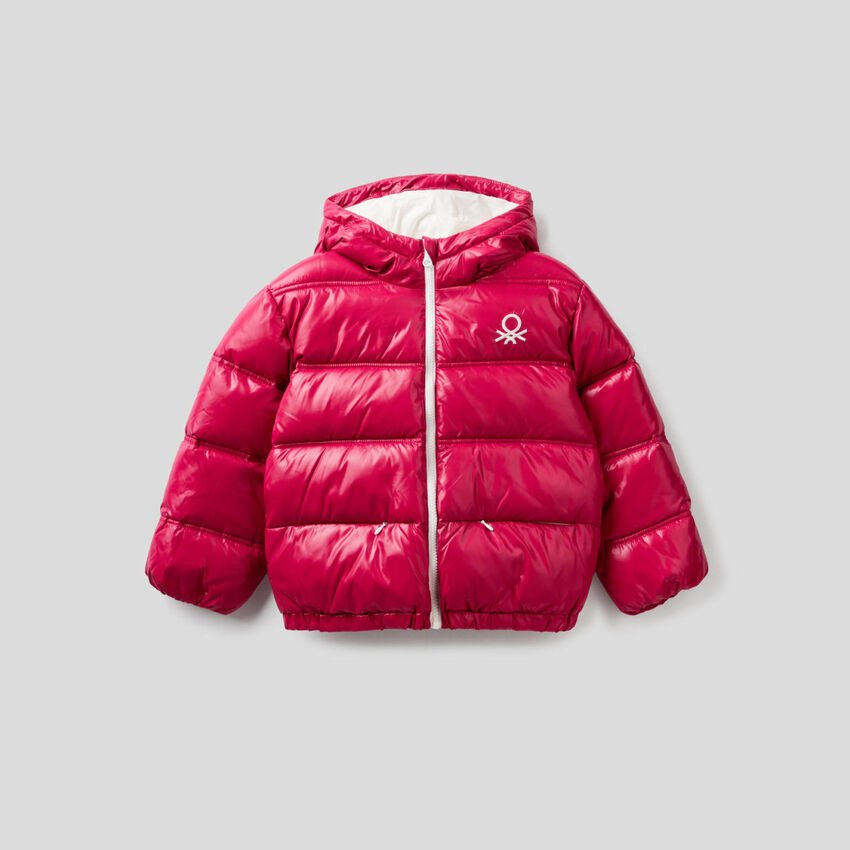 Padded jacket in recycled wadding