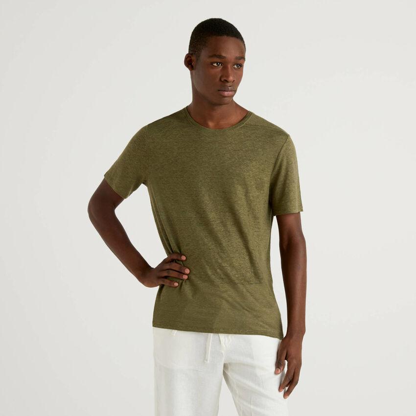 T-shirt από αγνό λινό