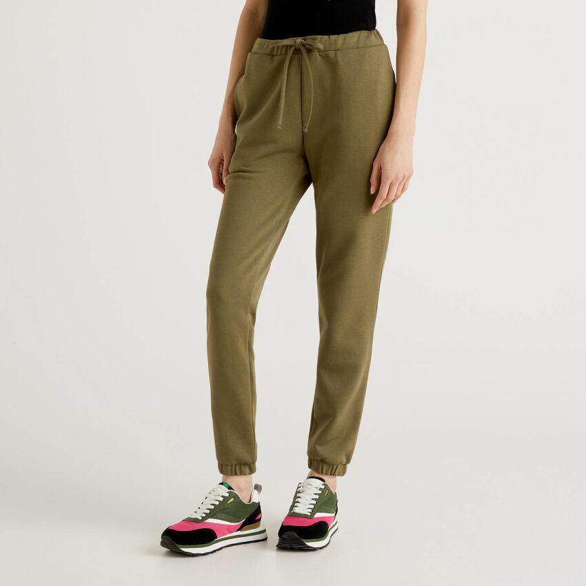 Παντελόνι φούτερ πράσινο militaire