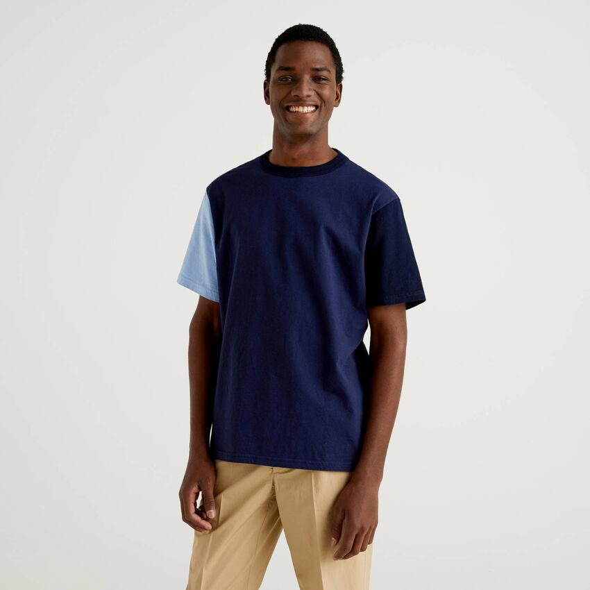 T-shirt color block κοντομάνικο
