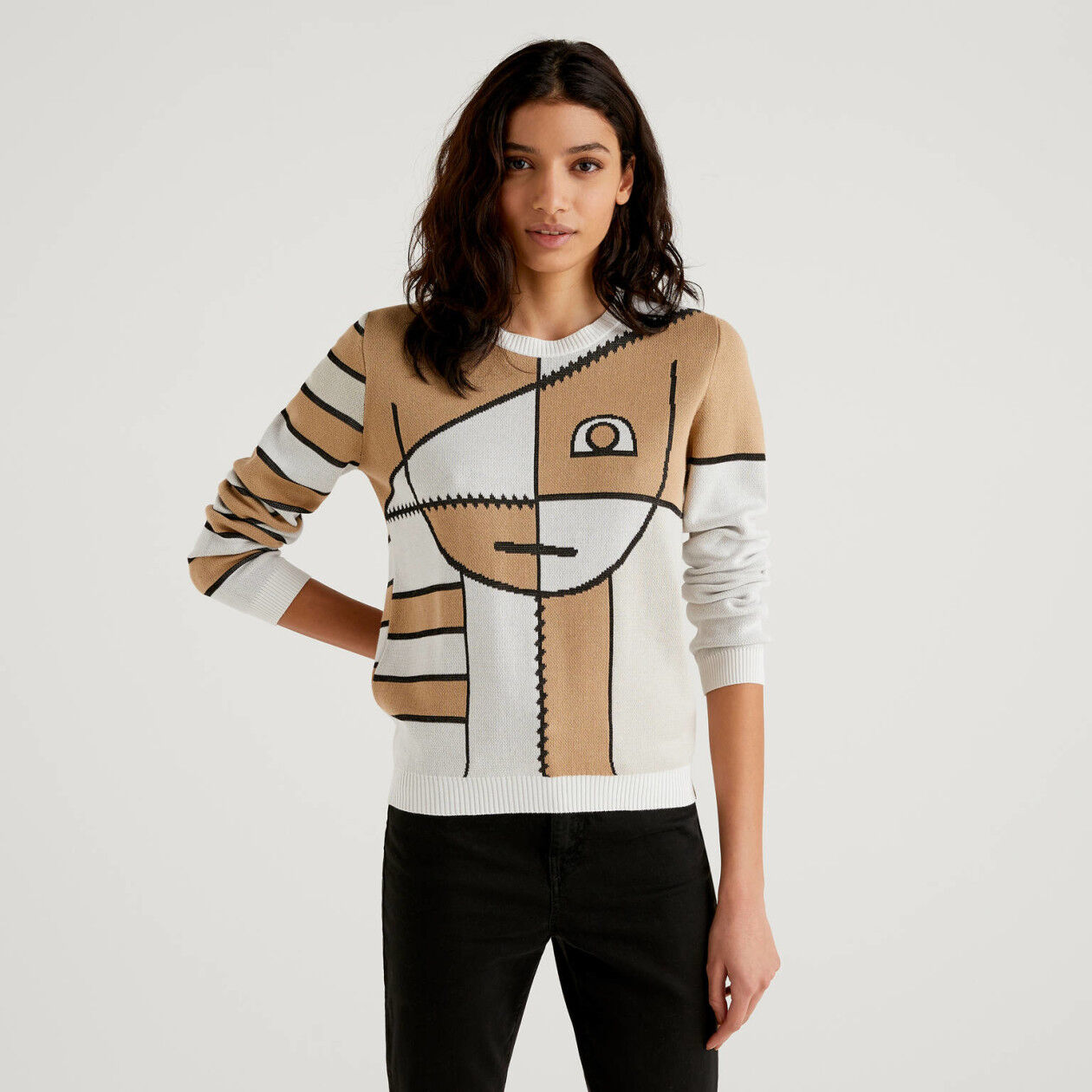 Sweater with stylized design