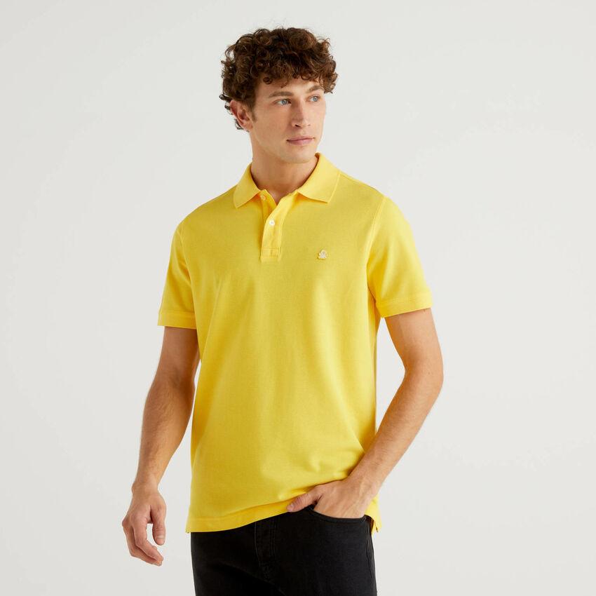 Πόλο κίτρινο regular fit εξατομικευμένο