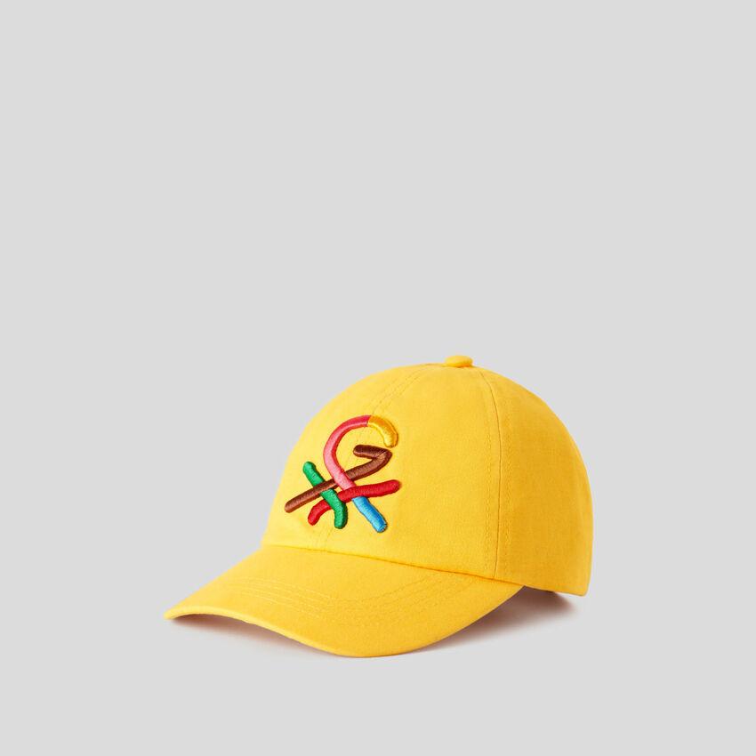 Καπέλο κίτρινο με κεντητό λογότυπο by Ghali