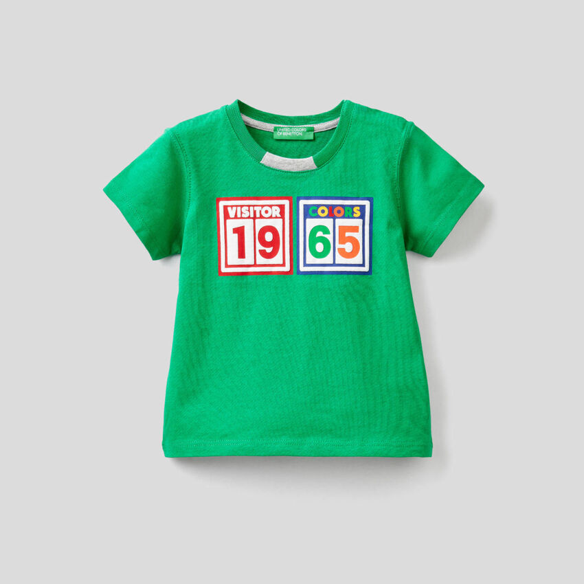T-shirt 100% βαμβακερό με πολύχρωμο τύπωμα