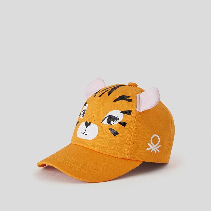 Καπέλο με γείσο από αγνό βαμβακερό