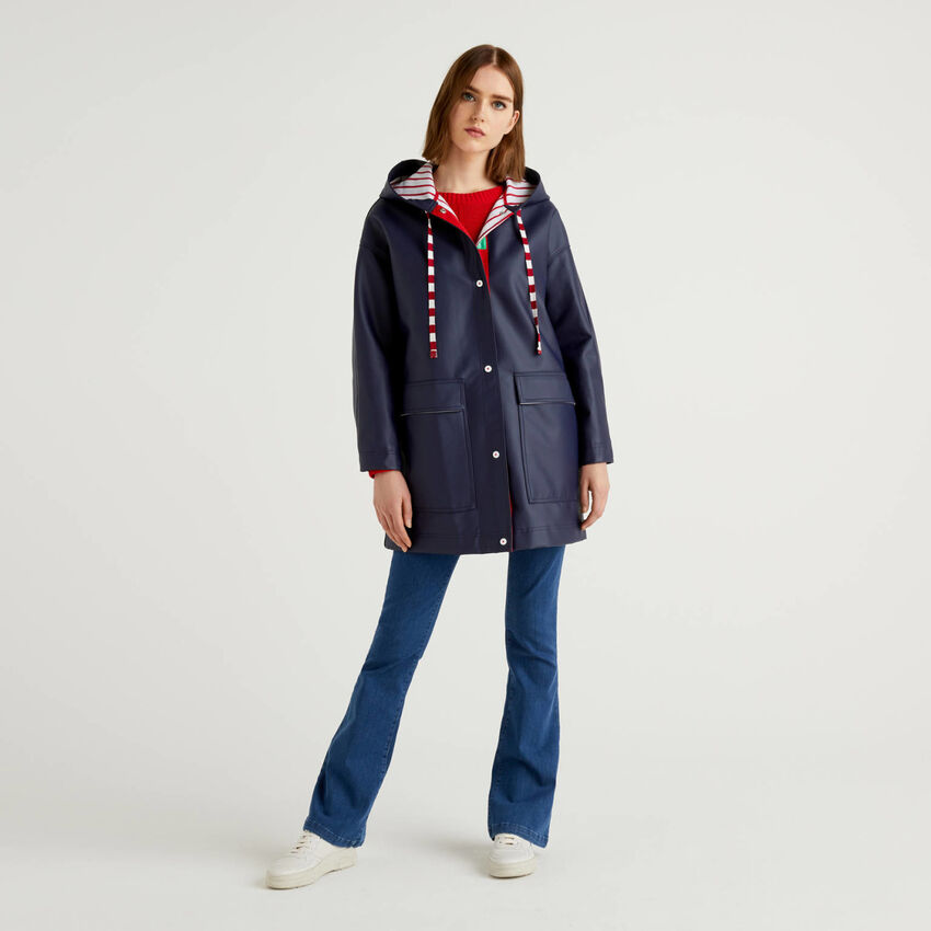 Raincoat with hood