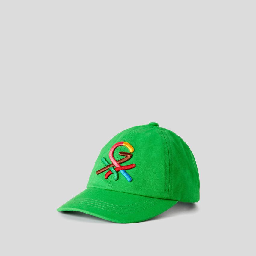 Καπέλο πράσινο με κεντητό λογότυπο by Ghali