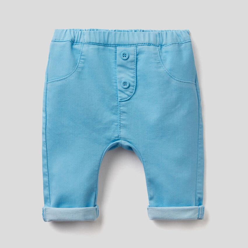 Παντελόνι από ανάμεικτο βαμβακερό stretch