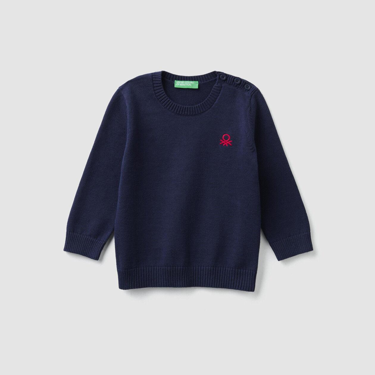 Μπλούζα με λαιμόκοψη και κουμπάκια