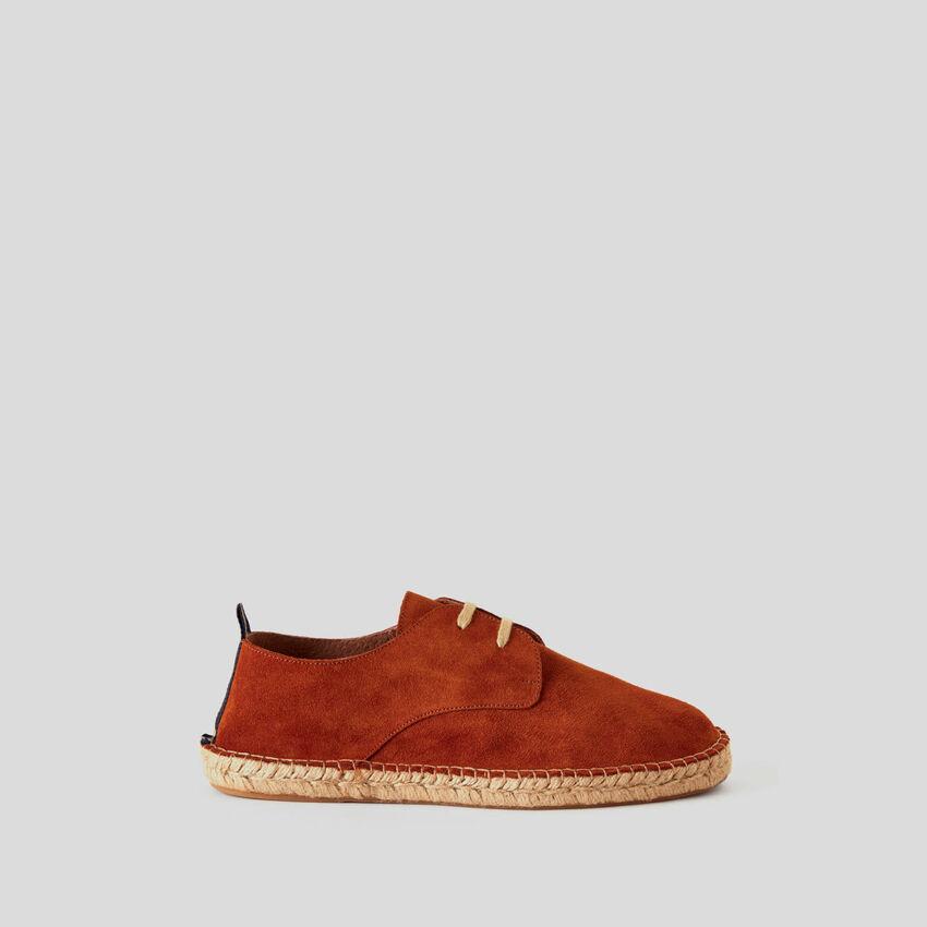 Παπούτσια derby από γνήσιο σουέτ δέρμα