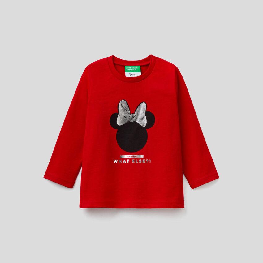 T-shirt Minnie μακρυμάνικο