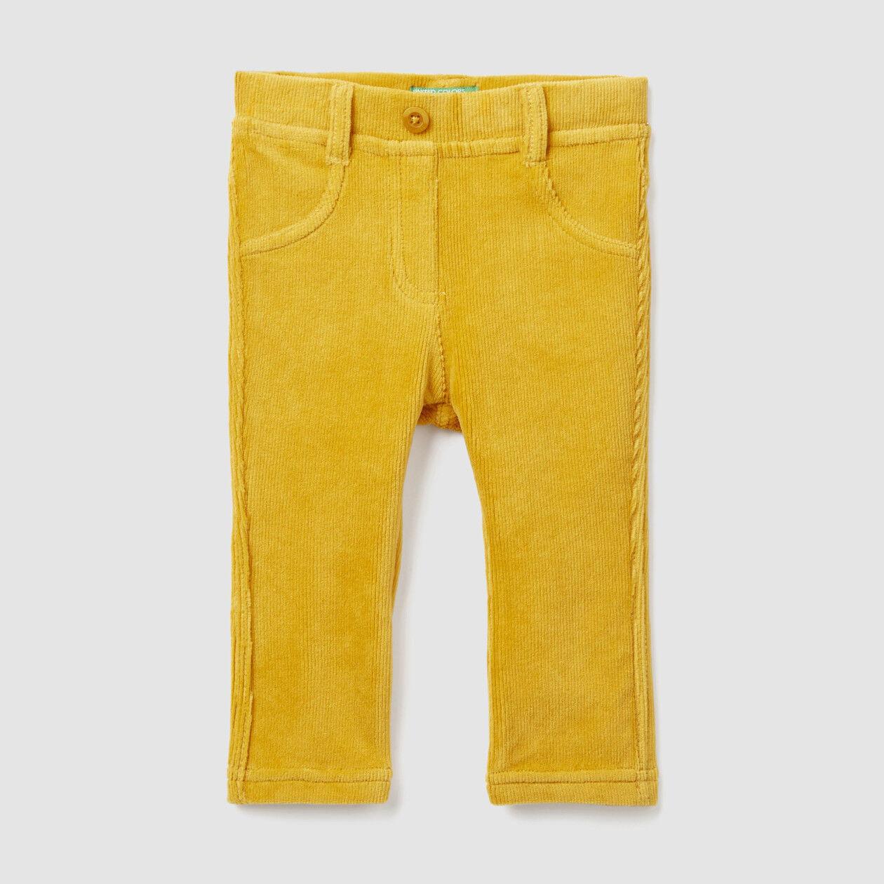 Παντελόνι με ριπ ύφανση stretch