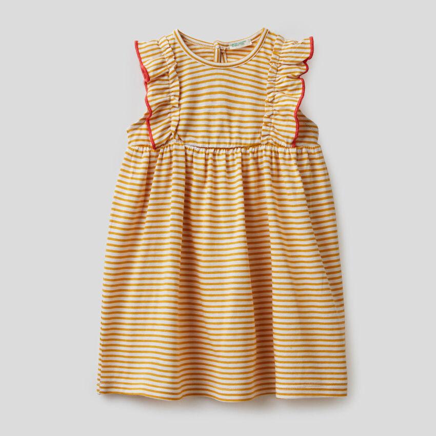Φόρεμα ριγέ από 100% οργανικό βαμβακερό