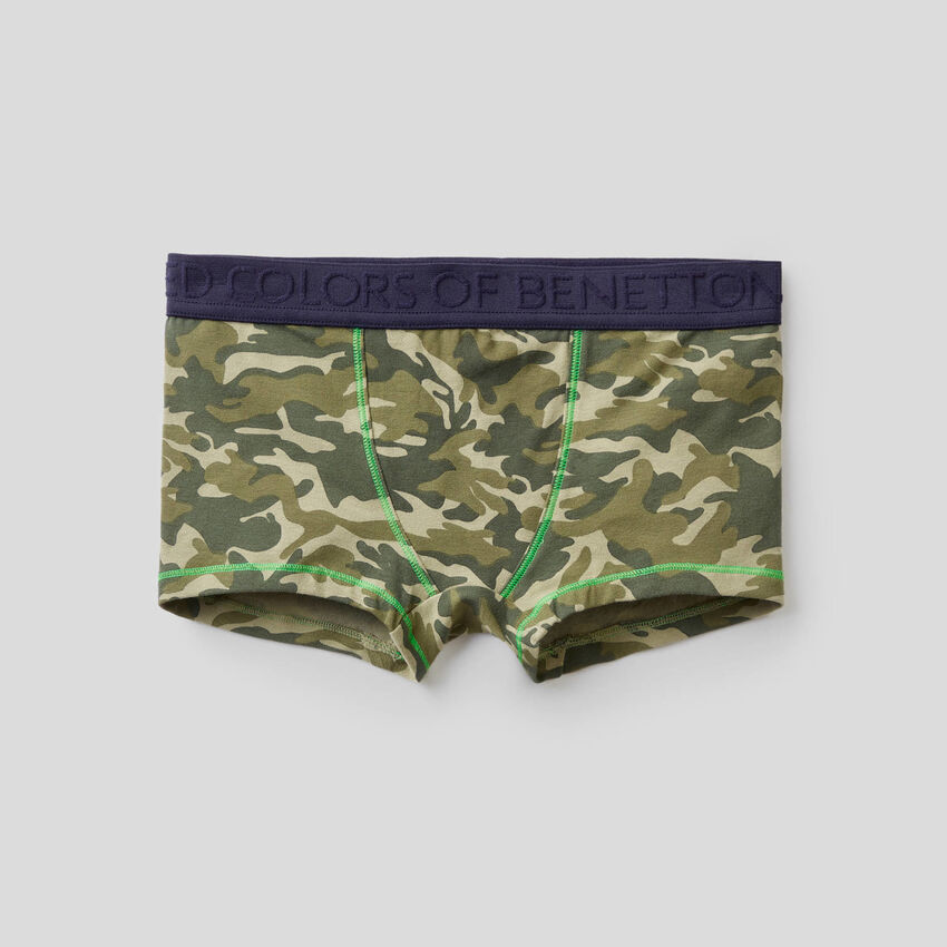 Printed boxers in stretch cotton