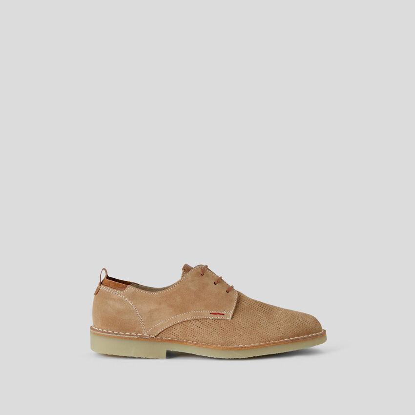 Παπούτσι με κορδόνι από γνήσιο δέρμα