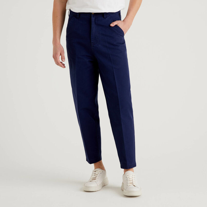 Chino cropped 100% βαμβακερό
