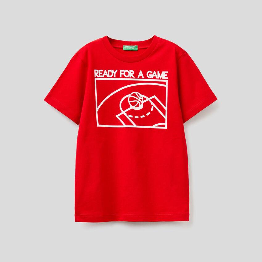 T-shirt από αγνό βαμβακερό με τύπωμα