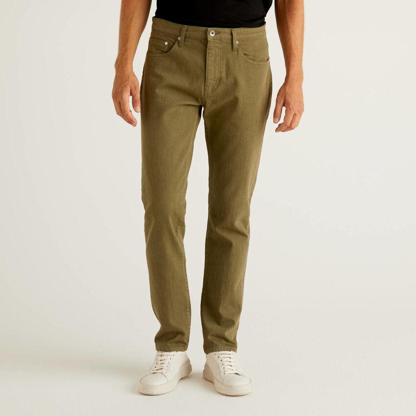 Παντελόνι με πέντε τσέπες από βαμβακερό stretch
