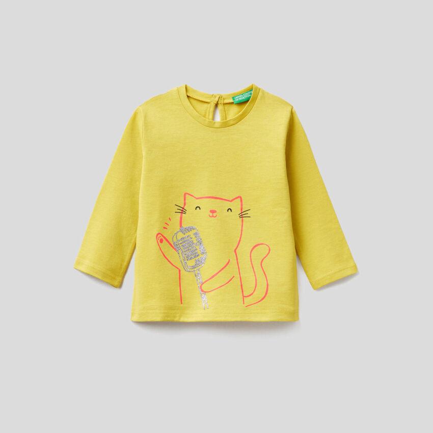 T-shirt μακρυμάνικο από αγνό οργανικό βαμβακερό