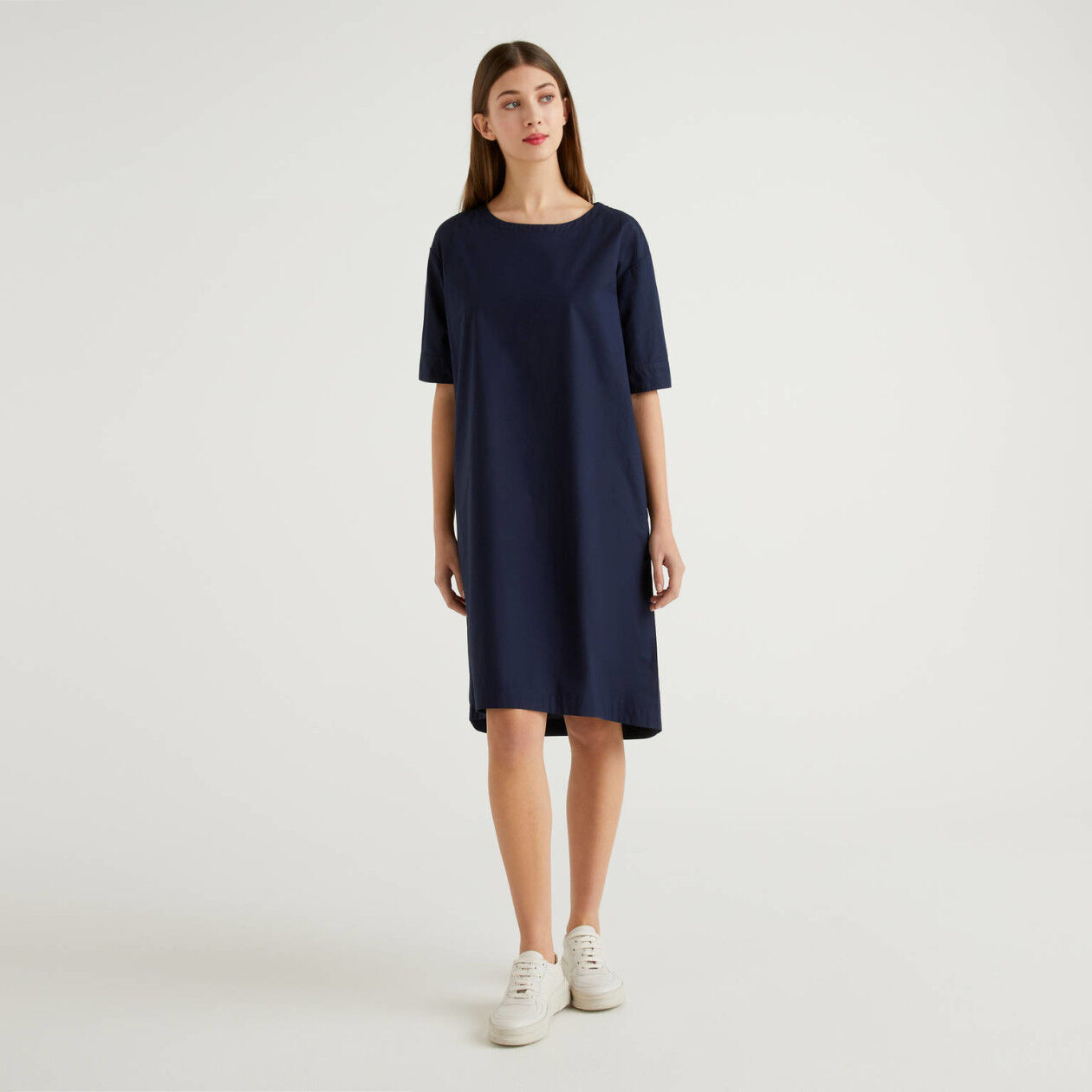 Φόρεμα φαρδύ από 100% βαμβακερό