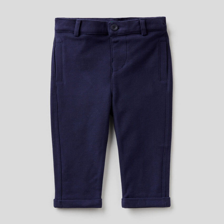 Παντελόνι κομψό από φούτερ από 100% βαμβακερό