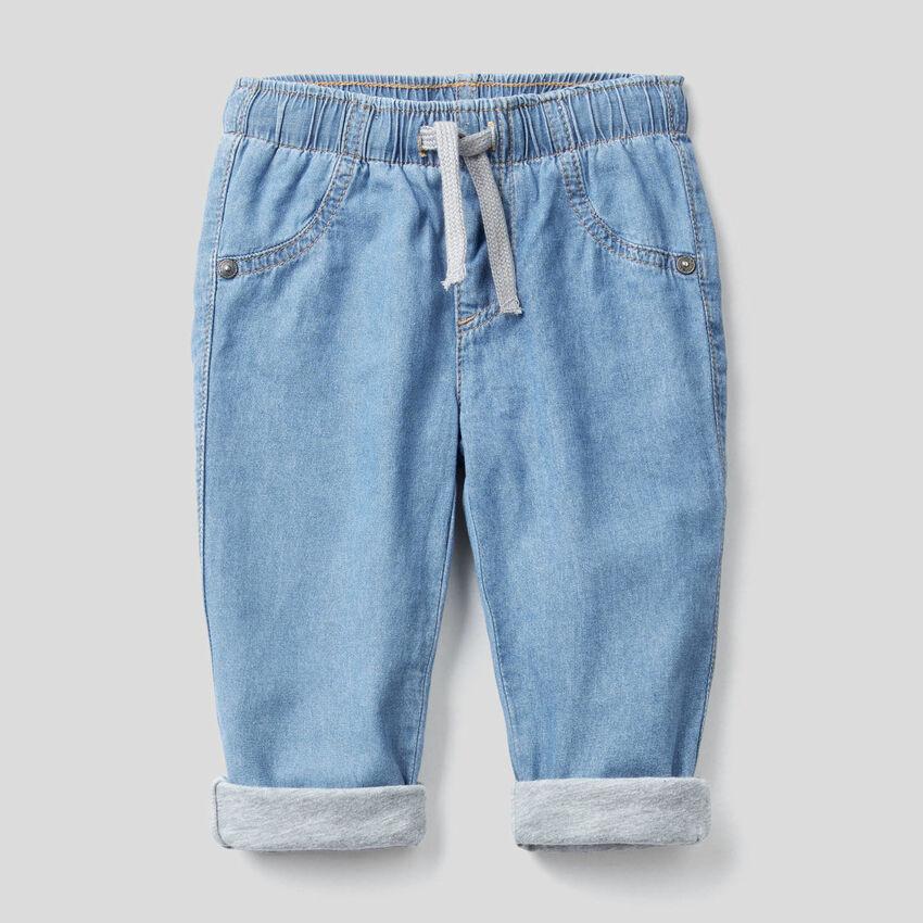 Παντελόνι με φόδρα από τζιν ελαφρύ