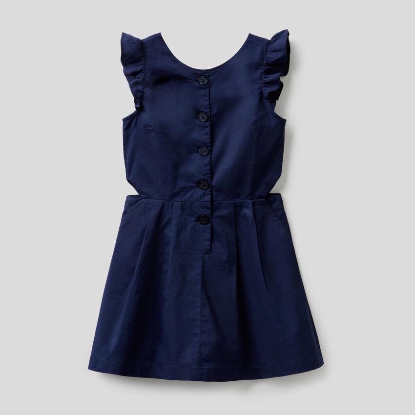 Φόρεμα εβαζέ από 100% βαμβακερό