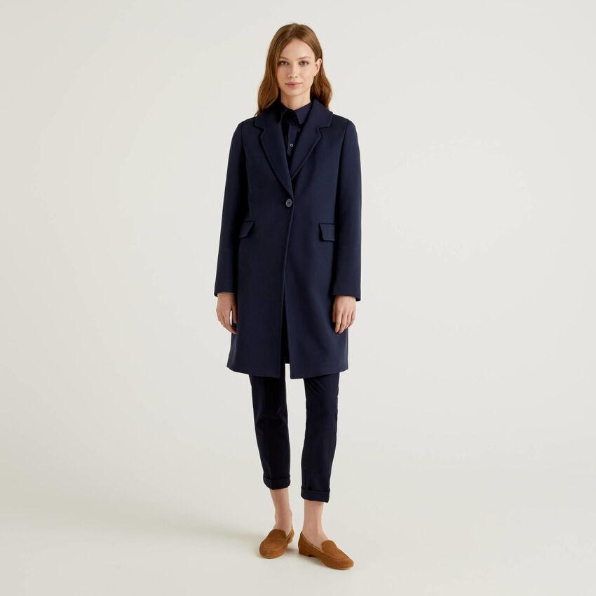 Παλτό με γιακά με ρεβέρ