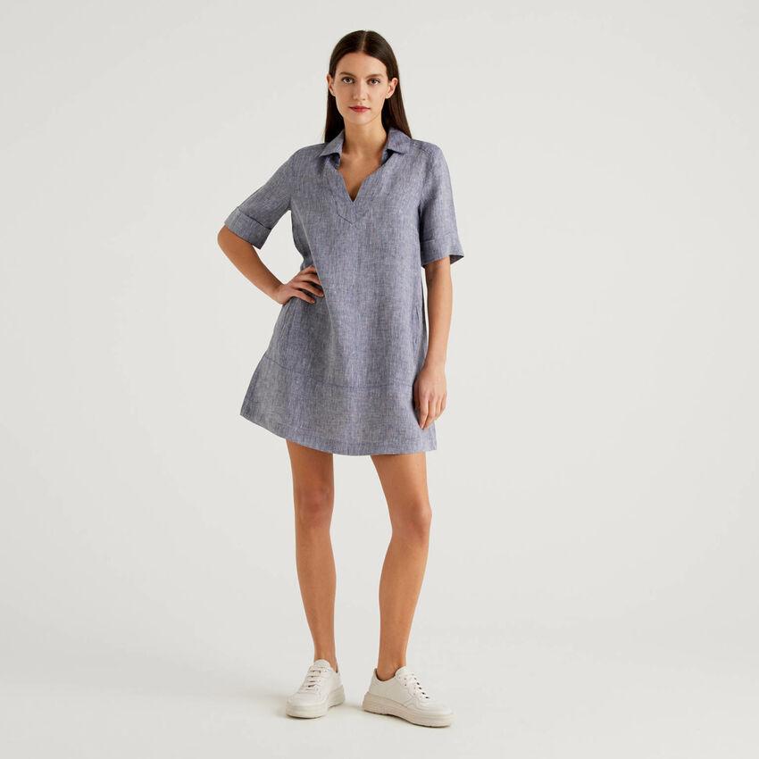 Φόρεμα κοντό 100% λινό
