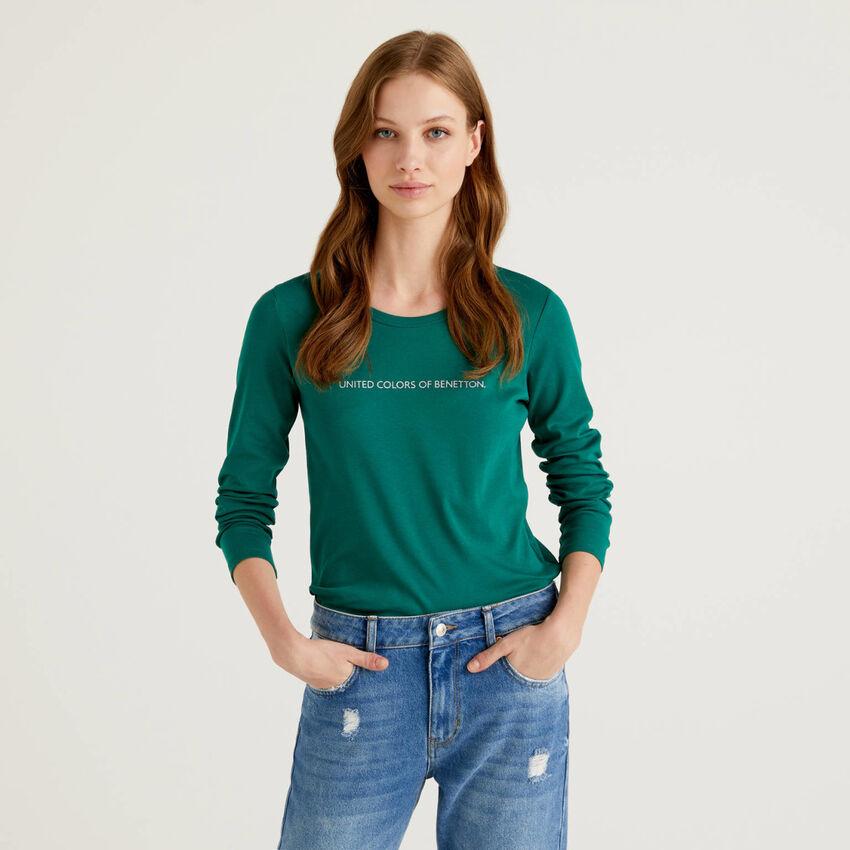 T-shirt μακρυμάνικο από 100% βαμβακερό