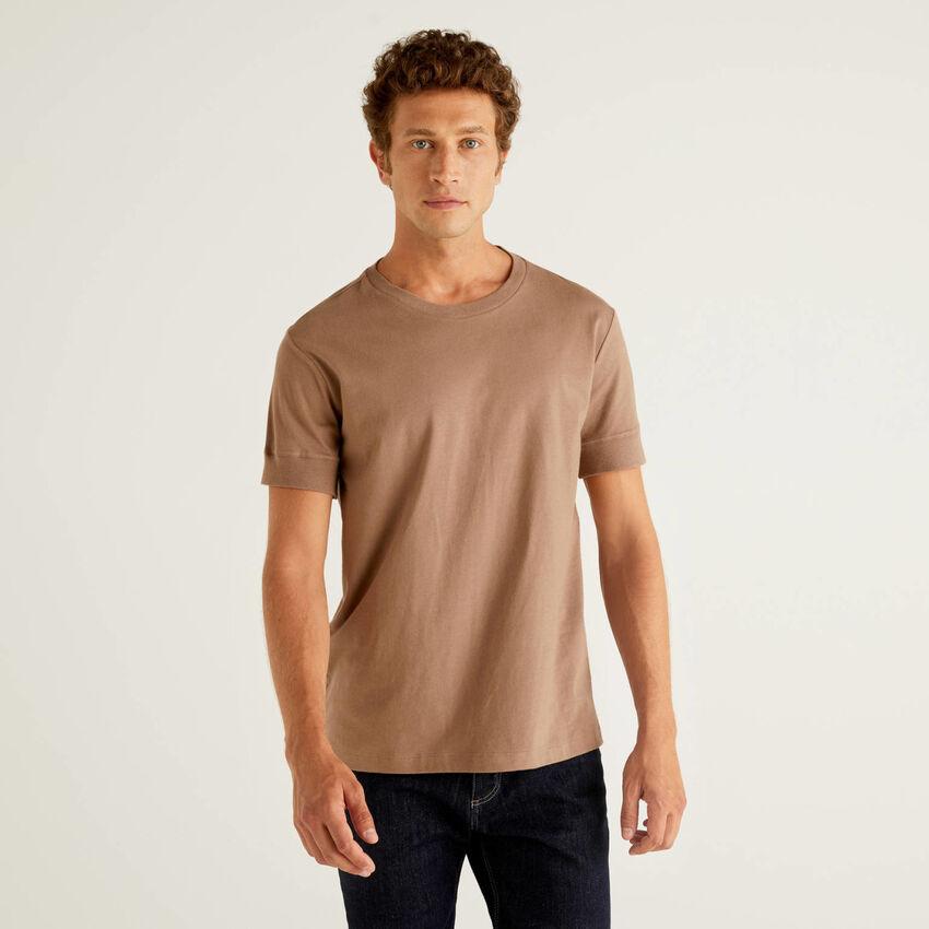 T-shirt μονόχρωμο κοντομάνικο