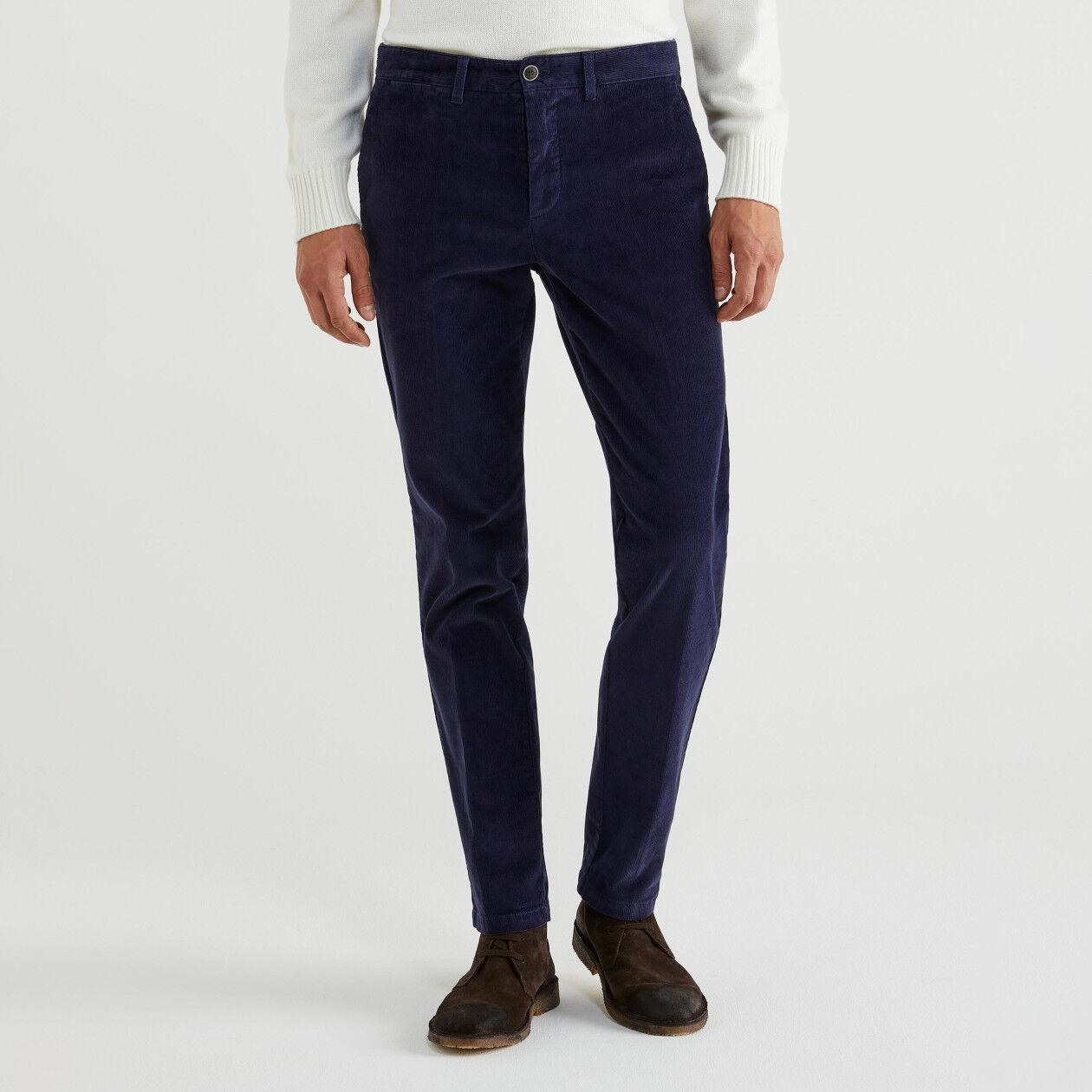 Παντελόνι slim fit από βελούδο