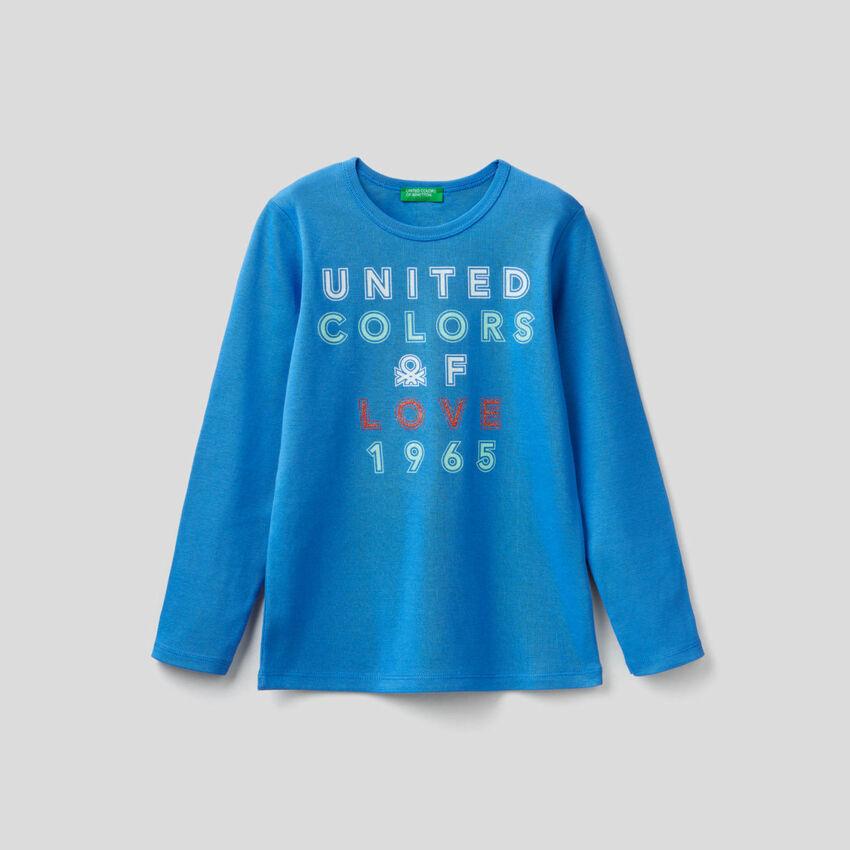 T-shirt μακρυμάνικο με τύπωμα
