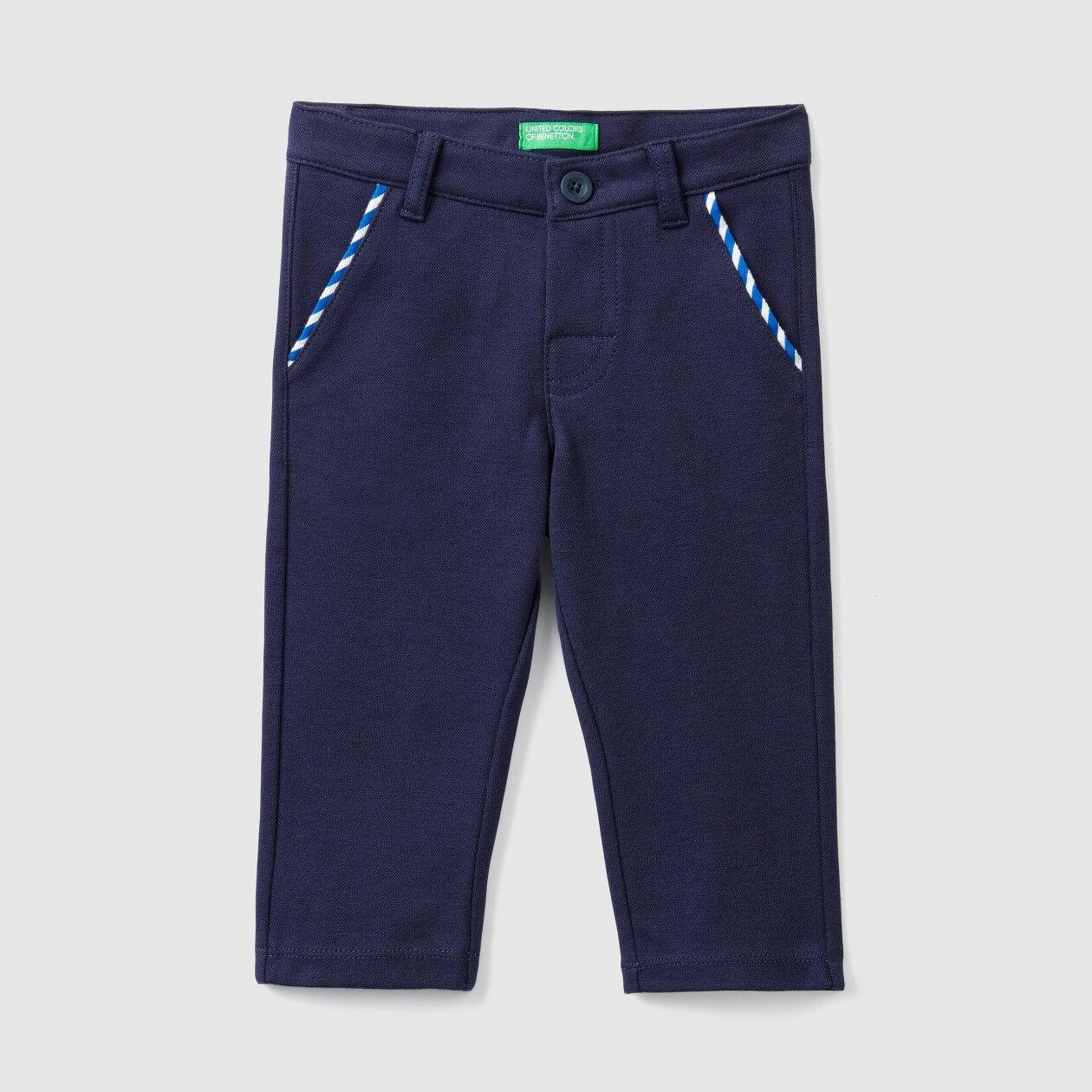 Παντελόνι από πικέ stretch