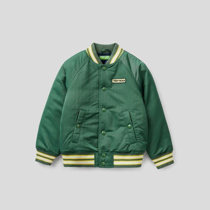 Varsity style bomber jacket