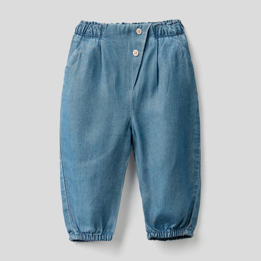 Παντελόνι με μέση με σούρα