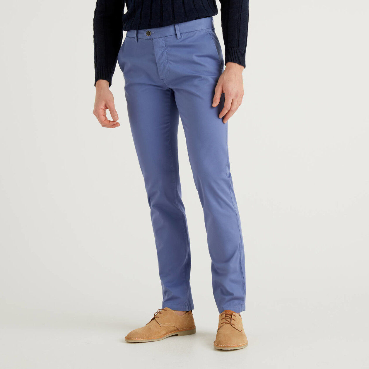 Chino stretch slim fit μπλε ραφ