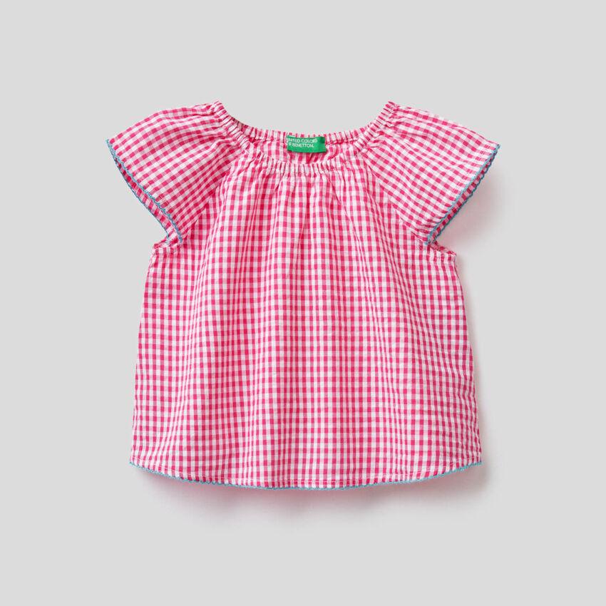 Μπλούζα με σχέδια vichy από 100% βαμβακερό
