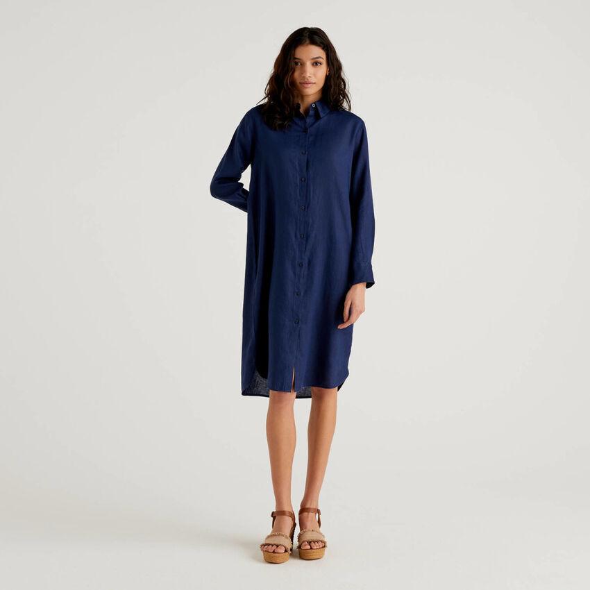 Φόρεμα chemisier 100% λινό