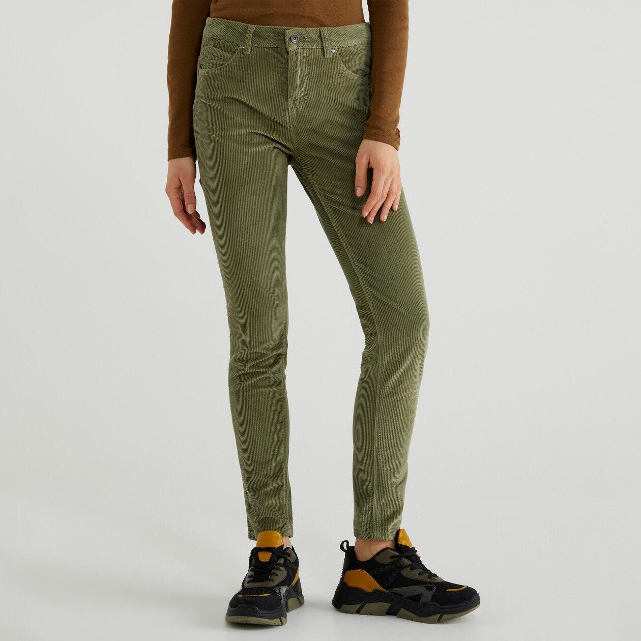 Παντελόνι skinny από βελούδο