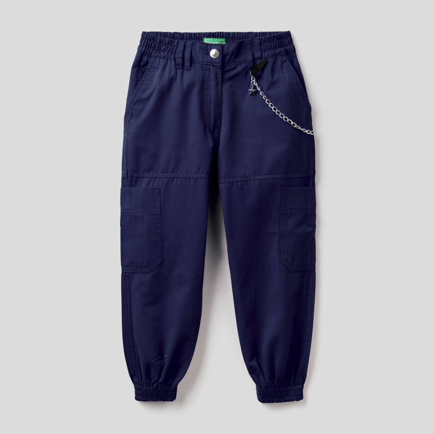 Παντελόνι cargo με αλυσίδα