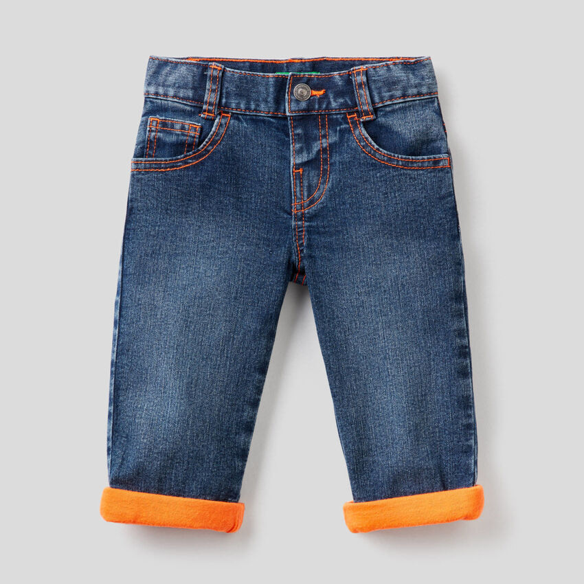 Jeans with neon details