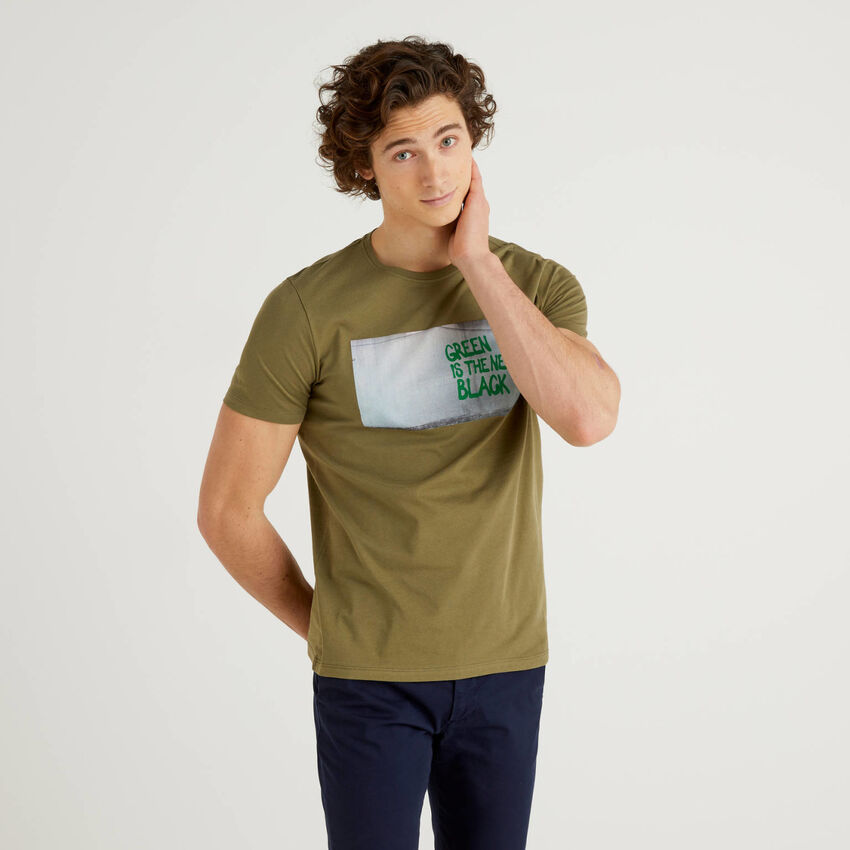 T-shirt 100% βαμβακερό με σλόγκαν